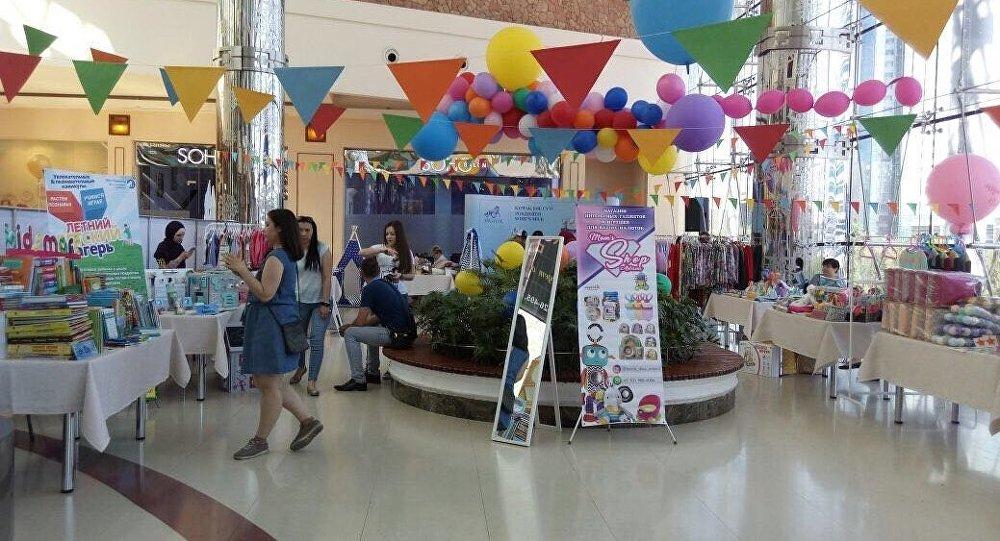 Благотворительная ярмарка KidSmart в ТРЦ Керуен в Астане