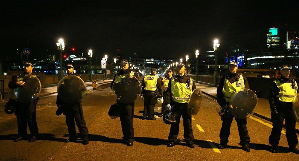 Полиция на месте теракта в Лондоне