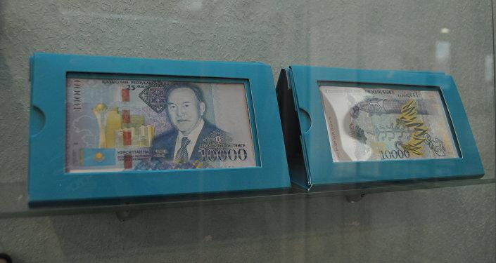 Национальная валюта Казахстана с изображением первого президента республики Нурсултана Назарбаева