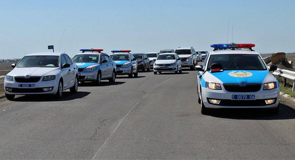 Полицейские автомобили на месте ДТП