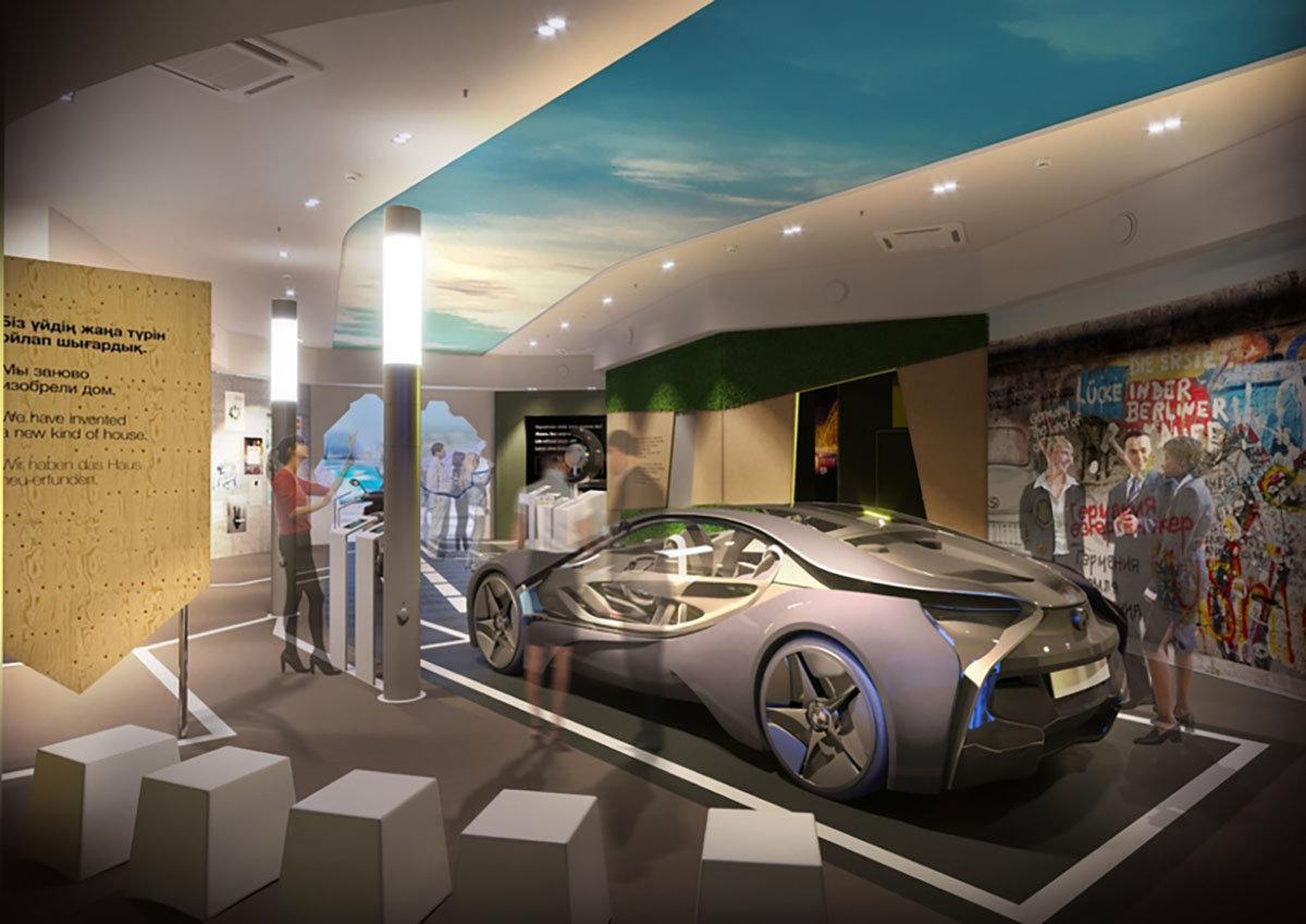 Макет первого в мире гоночного автомобиля на биотопливе