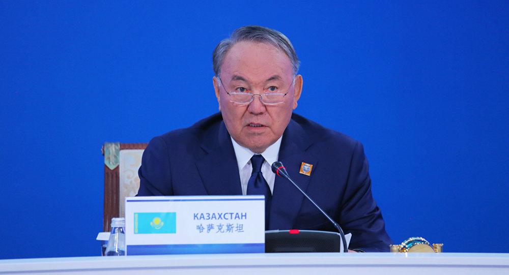 Президент Казахстана Нурсултан Назарбаев во время саммита ШОС