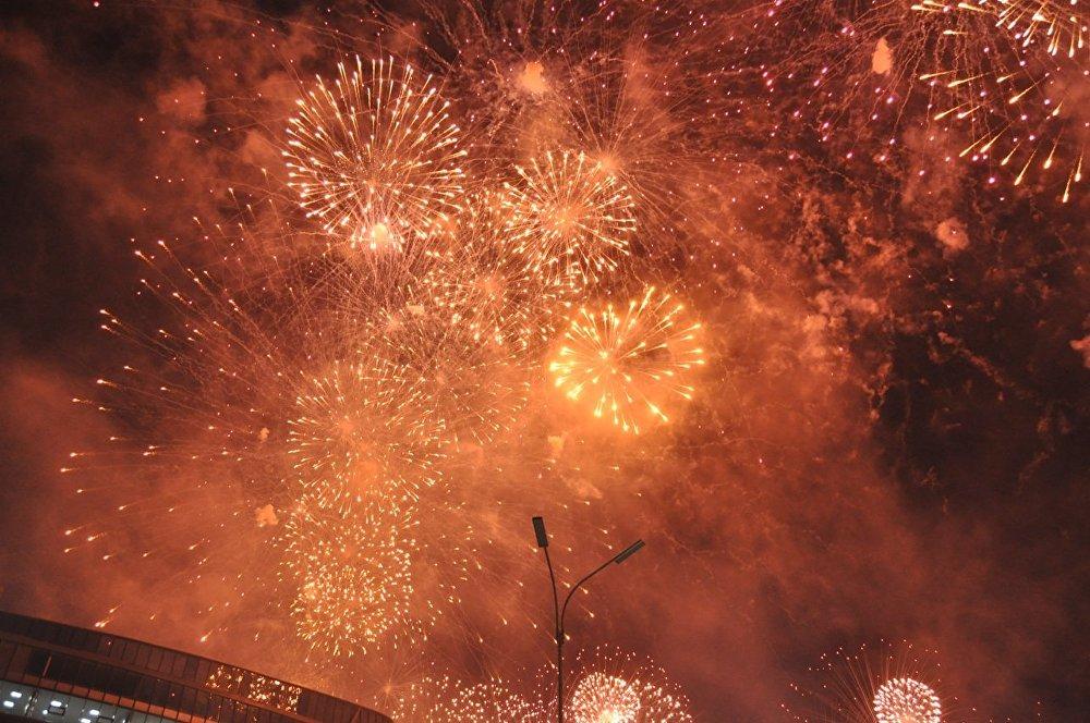 Фейерверк на открытии ЭКСПО-2017 в Астане