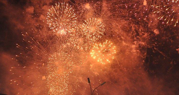 Видео фейерверка на открытии ЭКСПО-2017 в Астане