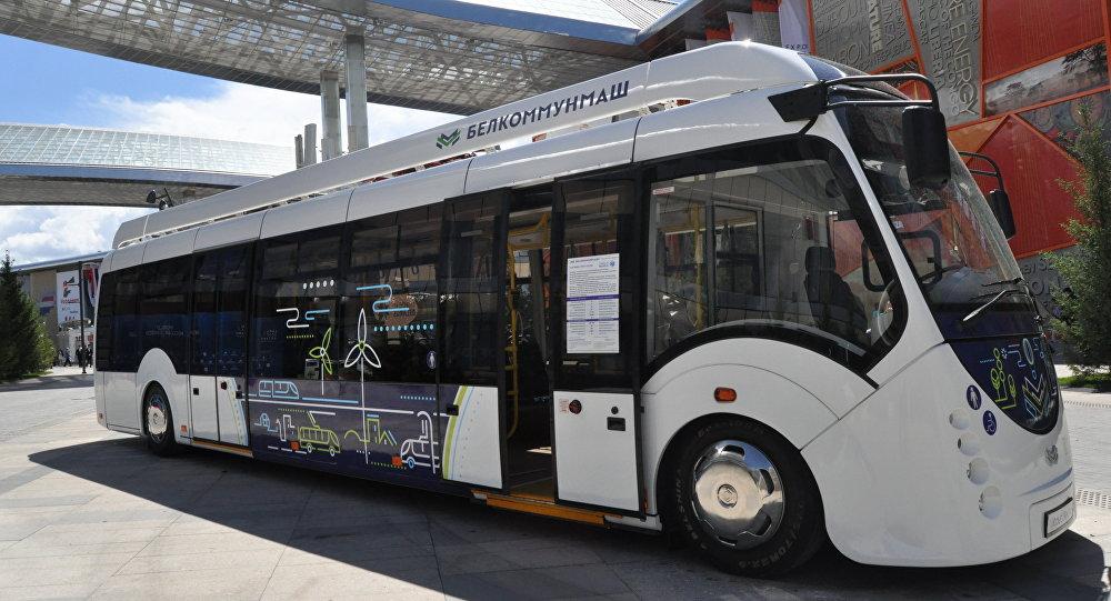 Электробус, представленный Беларусью на ЭКСПО