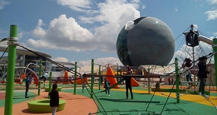 Детская площадка на территории ЭКСПО