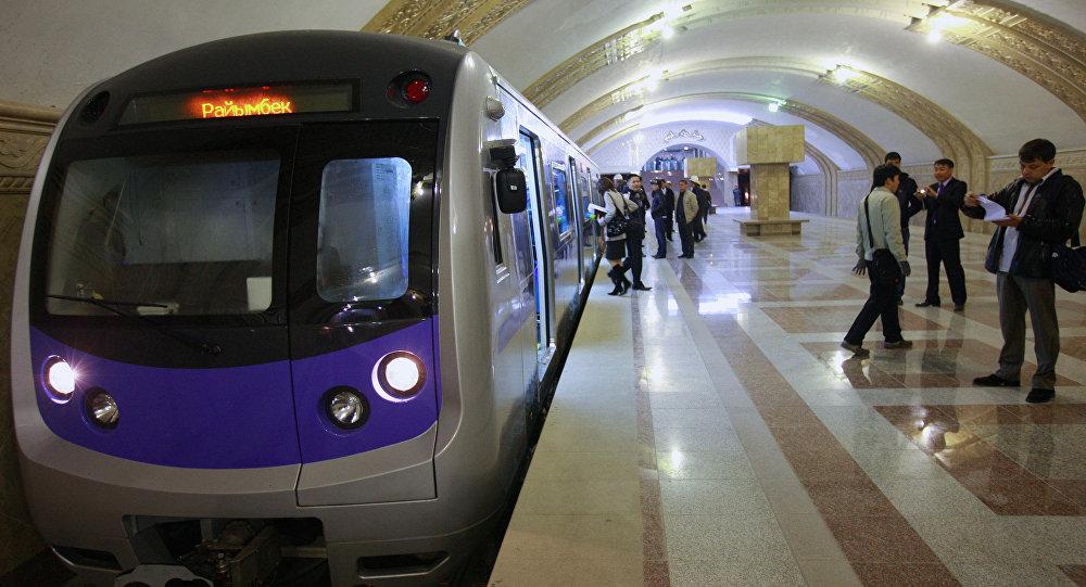 Архивное фото метро в Алматы