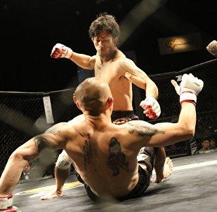 Архивное фото бойцов MMA