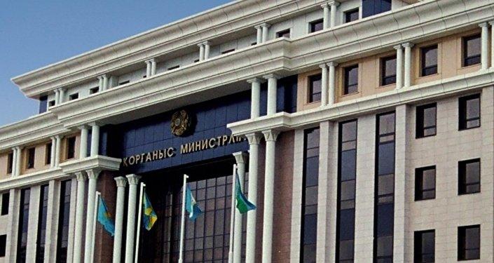 Архивное фото здания Министерства обороны Казахстана