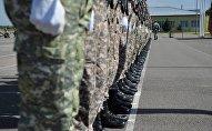 Архивное фото воинской части