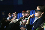 Архивное фото зрителей в кинотеатре