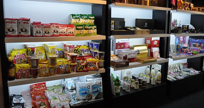 Продукты питания в павильоне Кореи на ЭКСПО