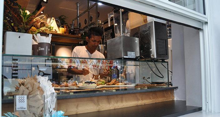 Кофейня Монако на территории ЭКСПО