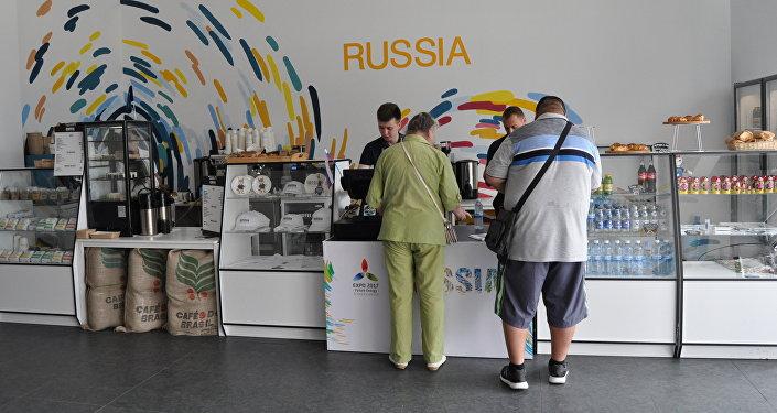 Кафе России на территории ЭКСПО