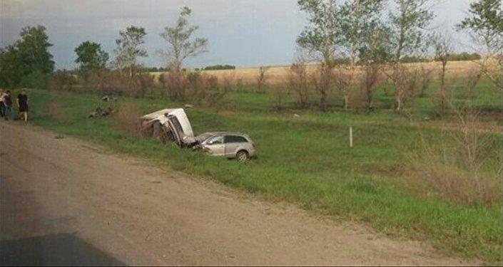 Авария на трассе Костанай-Рудный