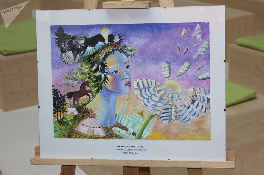 Рисунок Раушан Бекпаевой получил второе место на конкурсе