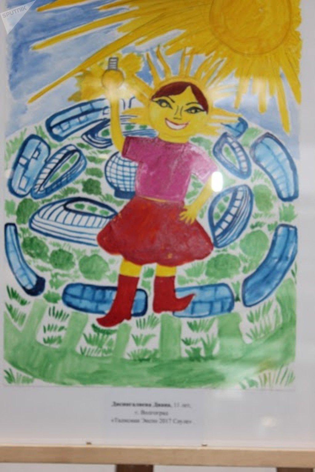 Рисунок Дианы Дисингалиевой признан лучшим на конкурсе