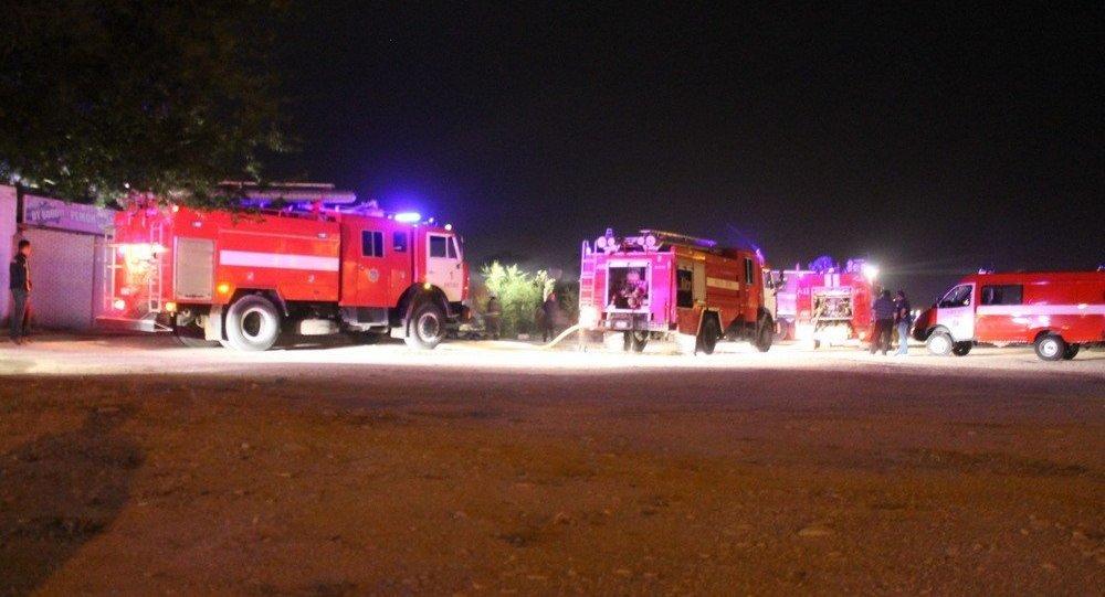 Пожар на складах в Актау