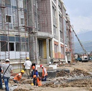 Алматыдағы құрылыс жұмыстары