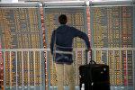 Пассажир в международном аэропорту, архивное фото