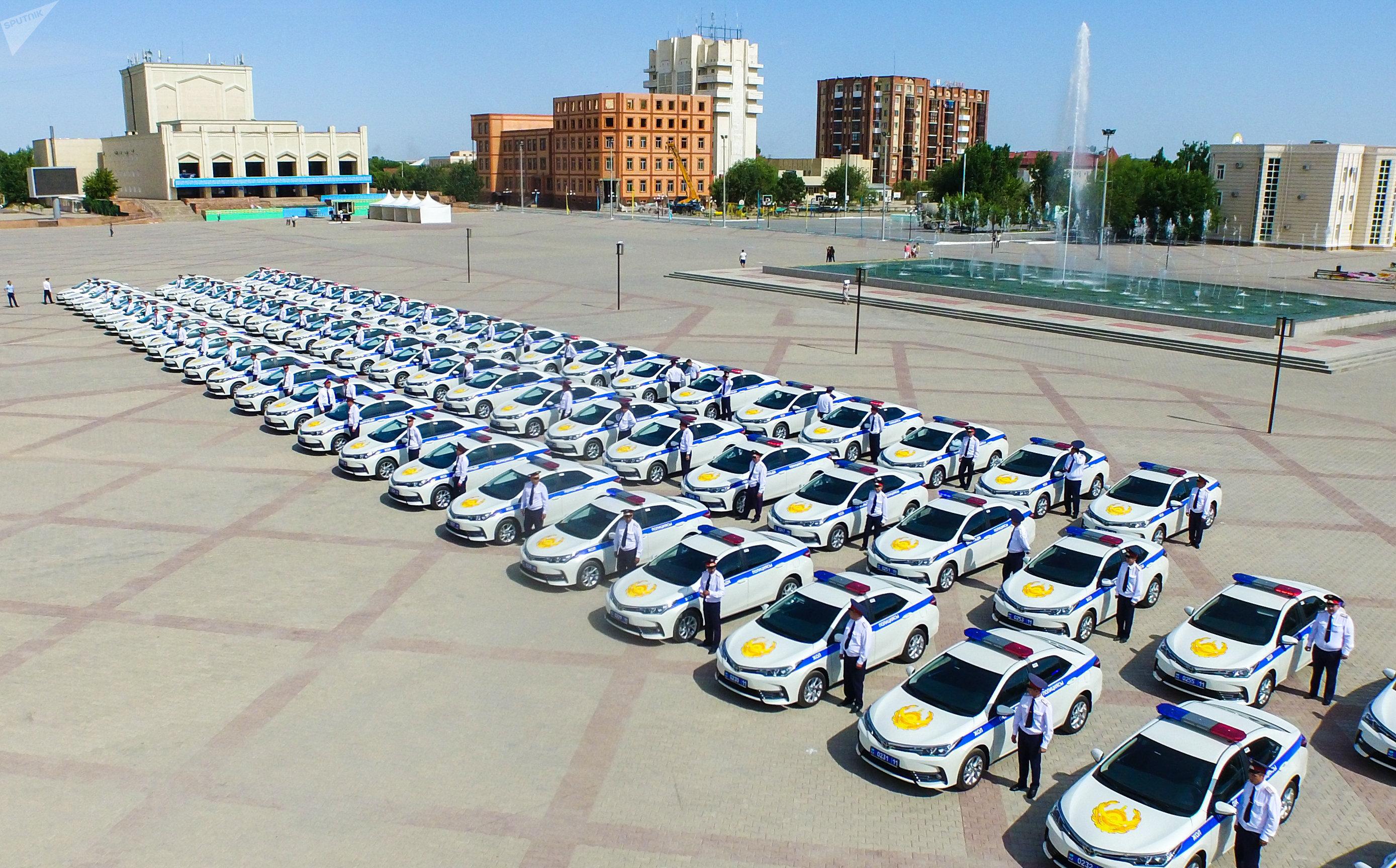 Новые автомобили вручили полицейским Кызылорды