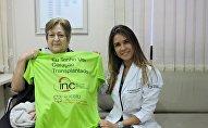 Бразильянка Ивонетти Бальтазар , которой пересадили сердце погибшего немецкого тренера