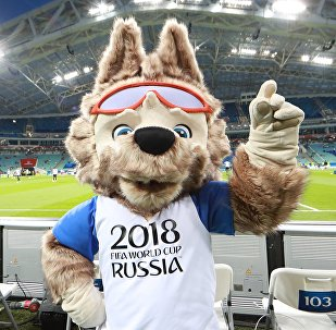 Талисман чемпионата мира по футболу 2018 и Кубка конфедераций FIFA волк Забивака