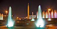 Алматының түнгі көрінісі