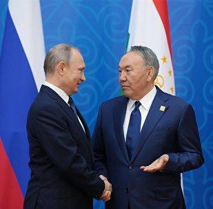 Владимир Путин мен Нұрсұлтан Назарбаев