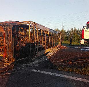 Авария с участием автобуса и КазАЗа в Татарстане