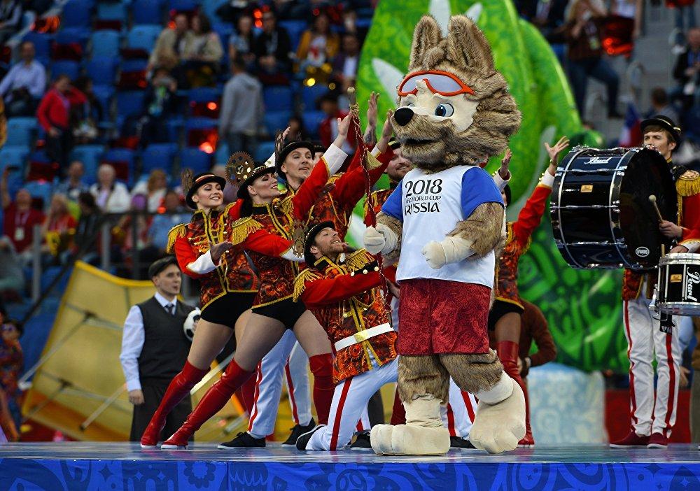 Талисман Чемпионата мира по футболу 2018 и Кубка конфедераций FIFA 2017 волк Забивака
