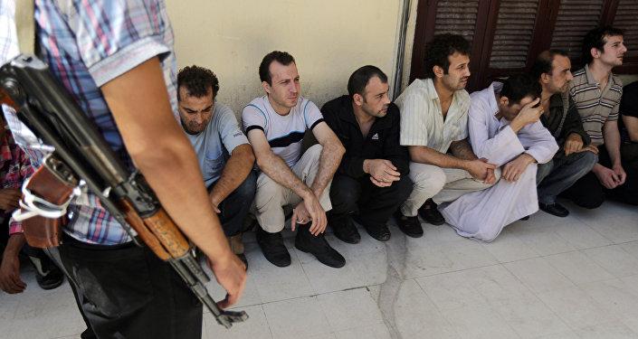 Архивное фото сирийских заключенных