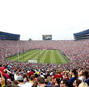 Стадион перед матчем ФК Реал Мадрид и Манчестер Юнайтед