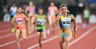 Казахстанская легкоатлетка Ольга Сафронова (справа)