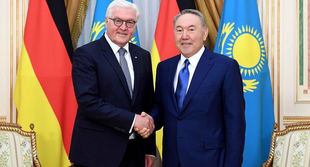 Франк-Вальтер Штайнмайер и Нурсултан Назарбаев