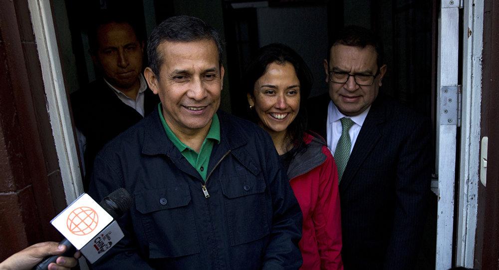Экс-президент Перу Ольянта Умала и его супруга Надин Эредия