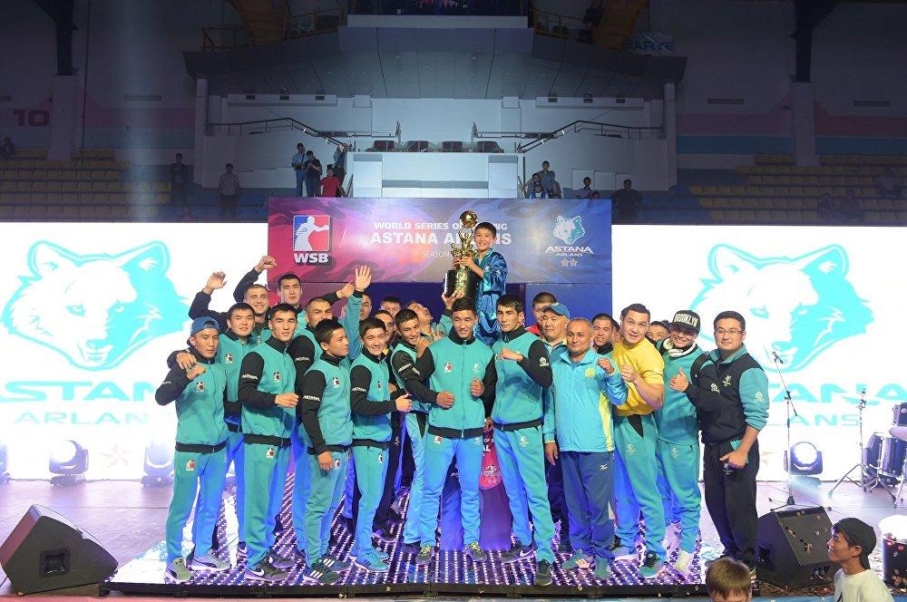 Клуб Astana Arlans после победы над Cuba Domadores