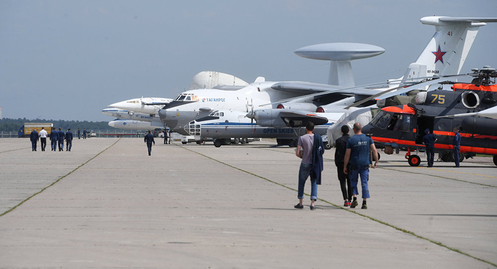 Подготовка к открытию Международного авиационно-космического салона МАКС-2017