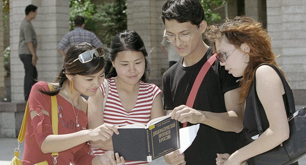 Студенты из Кыргызстана, архивное фото