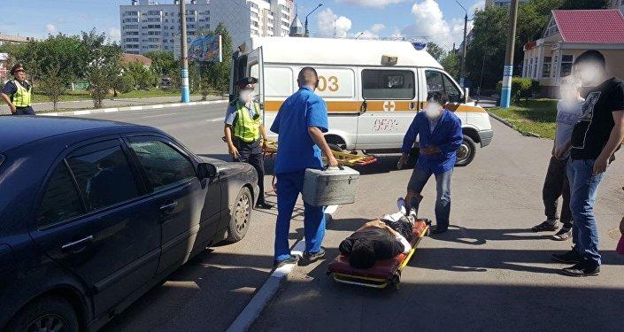 Мерседес сбил пешехода в Петропавловске