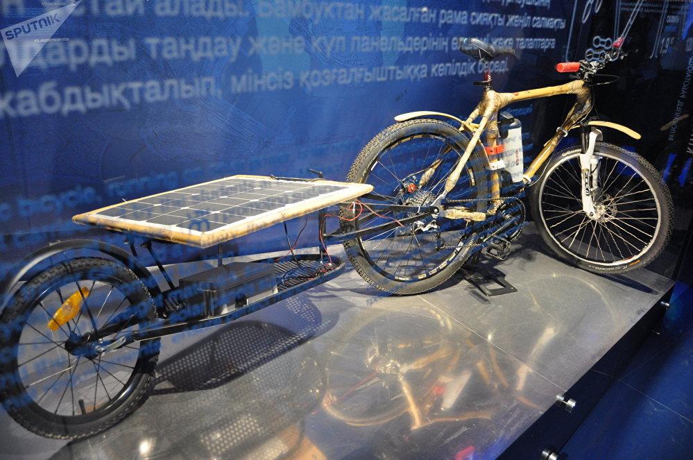 Велосипед на солнечных батареях в павильоне Монако на ЭКСПО