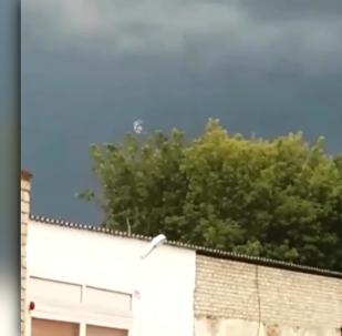 Странное явление в небе над Петропавловском