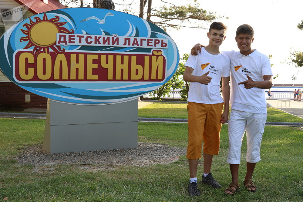 Владимир Сарафутдинов (слева) и Влад Лоскутов (справа) в лагере Орленок
