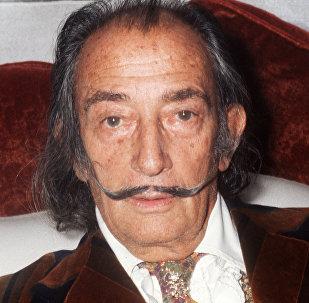 Портрет испанского художника Сальвадора Дали (1904-89), сделанного 13 декабря 1972 года в Париже