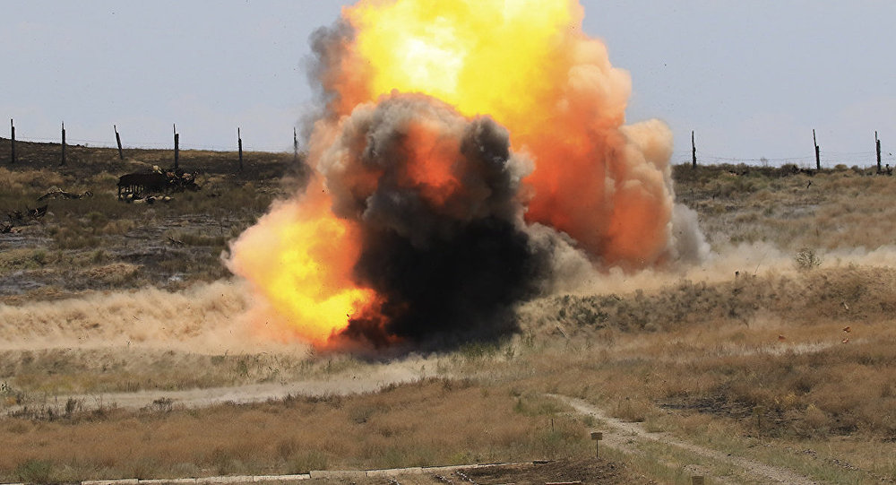 Взрыв, архивное фото