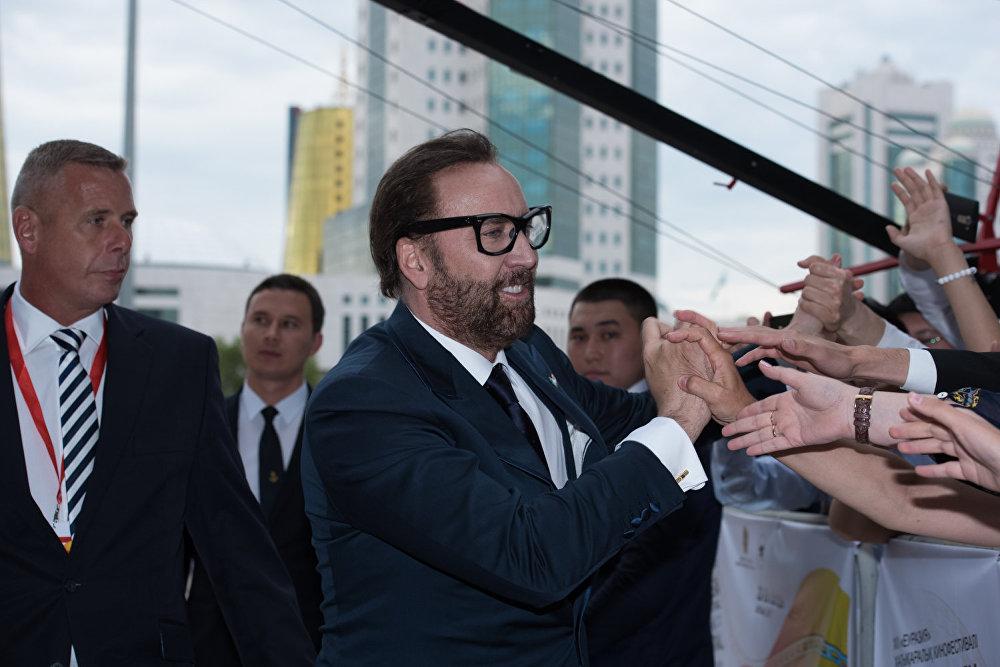 Актер Николас Кейдж на кинофестивале Евразия