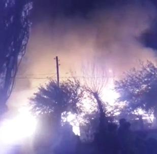 Тұздыбастаудағы ірі өрттің видеосы