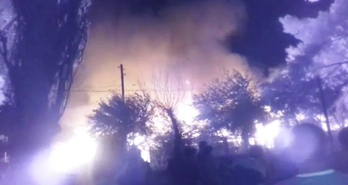 Крупный пожар в селе Туздыбастау 27 июля