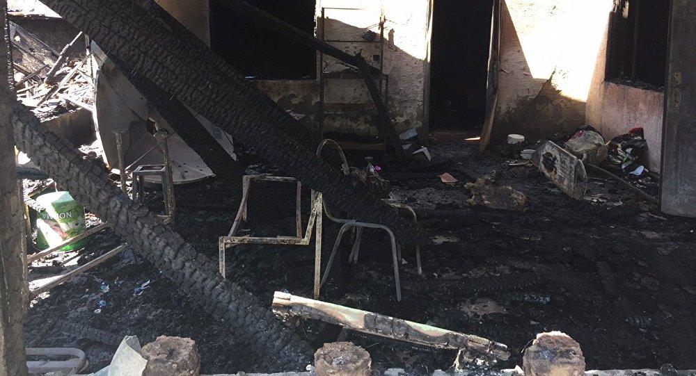Последствия пожара в Туздыбастау