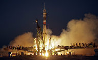 Ракета-носитель Союз-ФГ с космическим кораблем Союз-МС-05, архивное фото